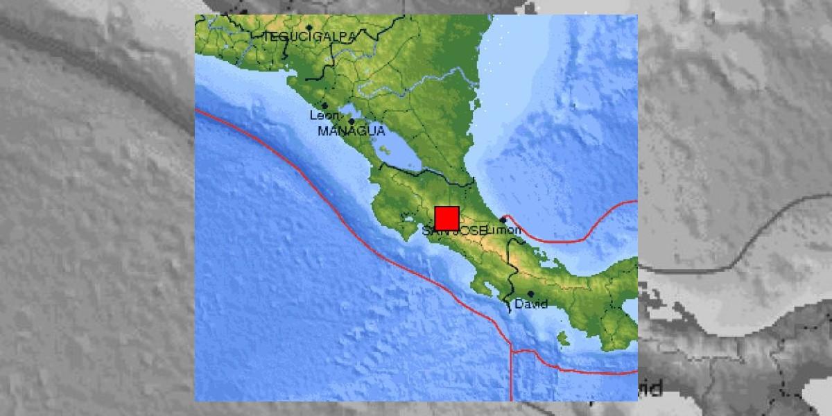 Fuerte sismo de 6 grados Richter sacude a Costa Rica