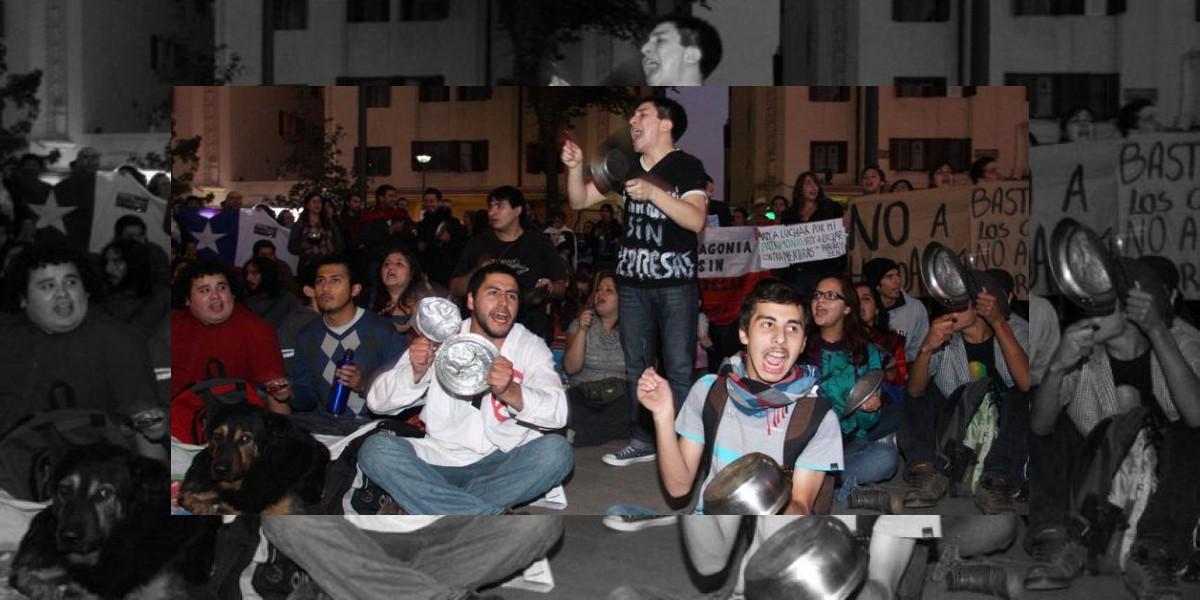 Protestan con cacerolazos en Plaza Italia por HidroAysén