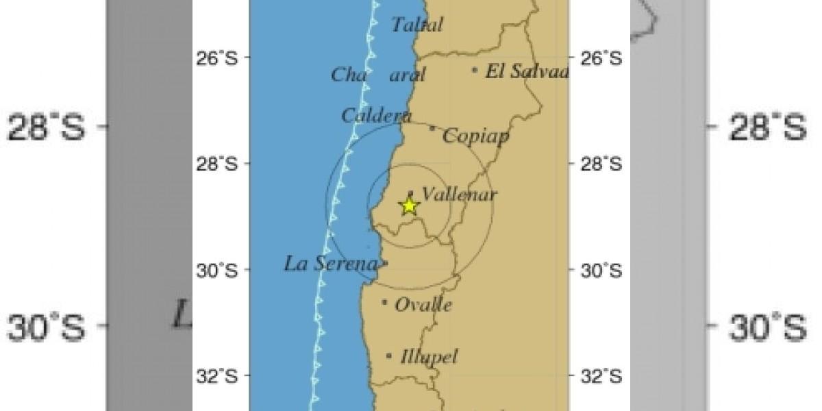 Sismo de 4,6º afecta a las regiones de Atacama y Coquimbo