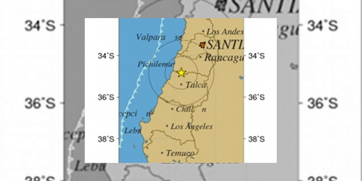 Intenso temblor remece la zona centro sur del país