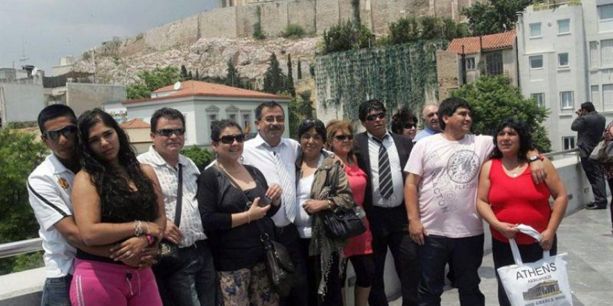 Grecia: Mineros chilenos visitan el Museo de la Acrópolis