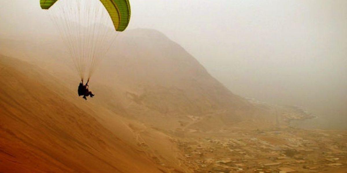 [FOTOS] Alerta Roja por tormenta de arena que tiñe el cielo en Iquique