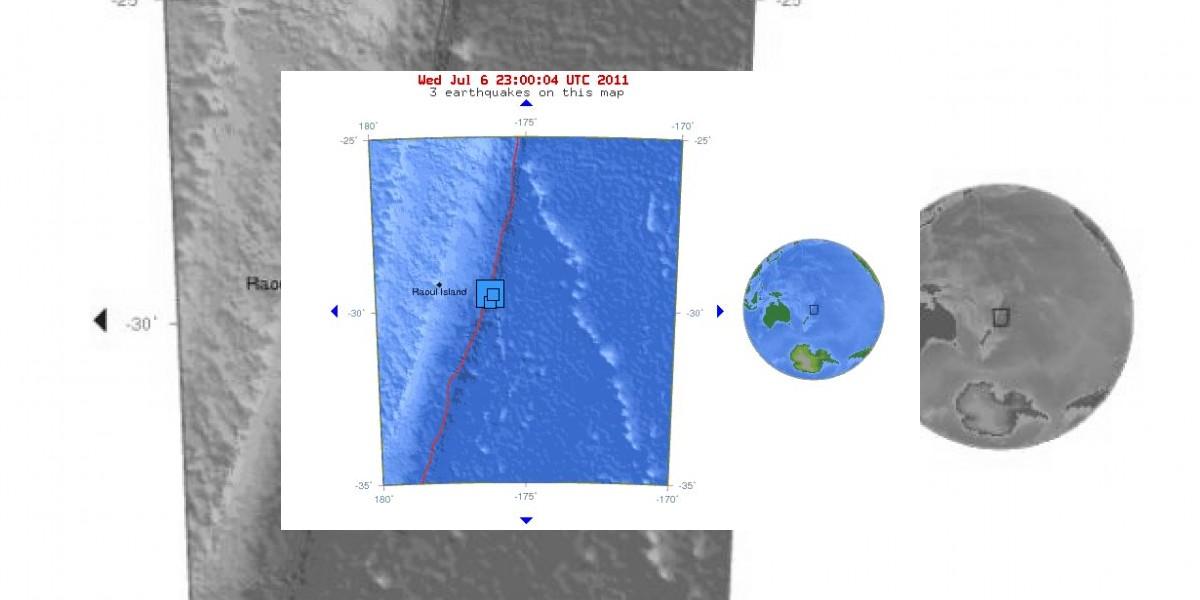 Descartan alerta de tsunami para el Pacífico tras terremoto en islas Kermadec