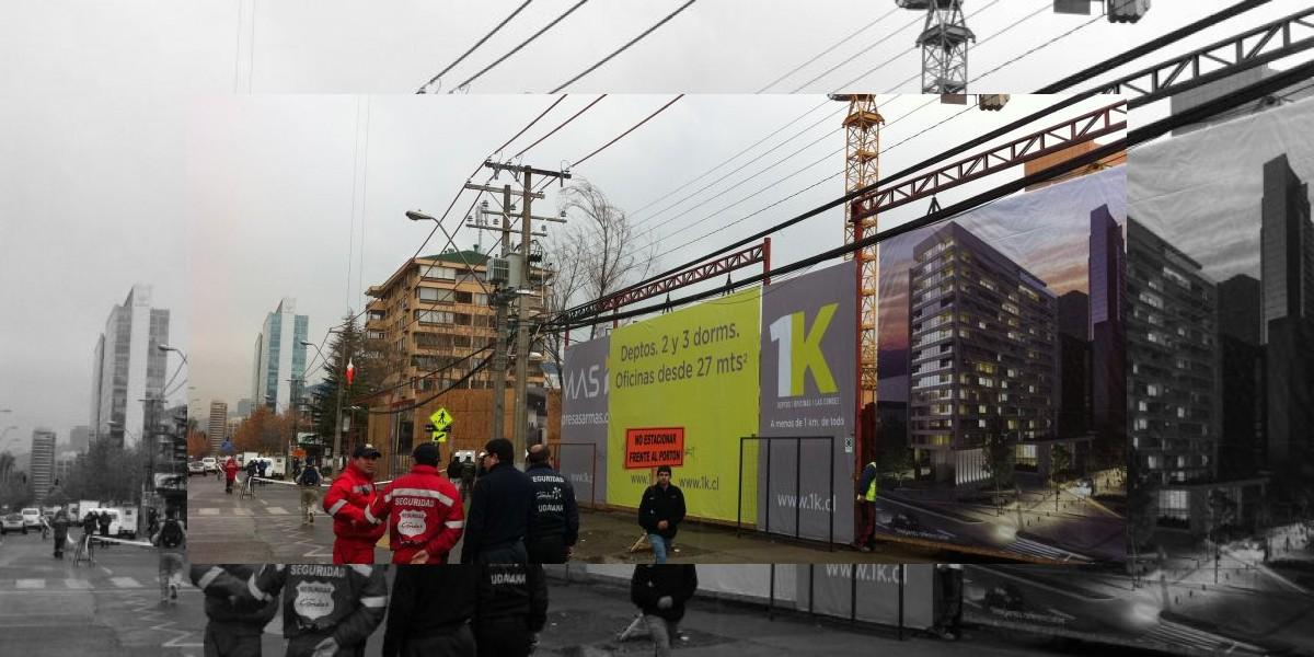 Vecinos de Las Condes quedan sin luz por accidente de grúa de la construcción
