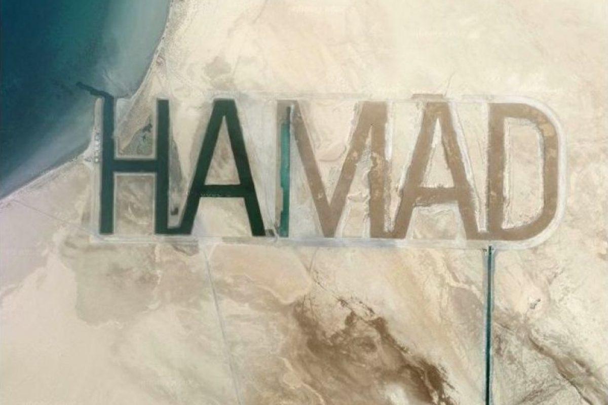 Su última excentricidad: las letras talladas en la arena de una isla.. Imagen Por: