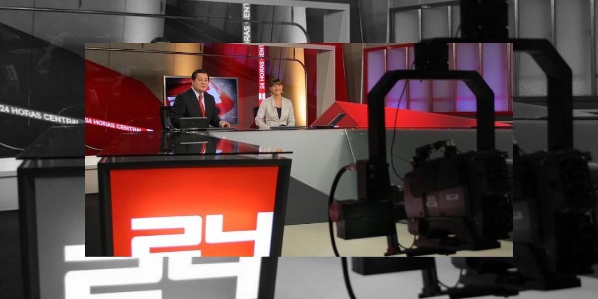 Estudiantes intentan irrumpir en noticiario central de TVN