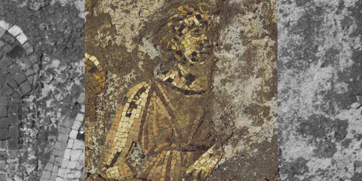 En una colina romana encuentran mosaico de Apolo del siglo I