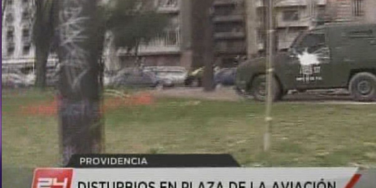 Inéditos incidentes se registran en parque de Providencia