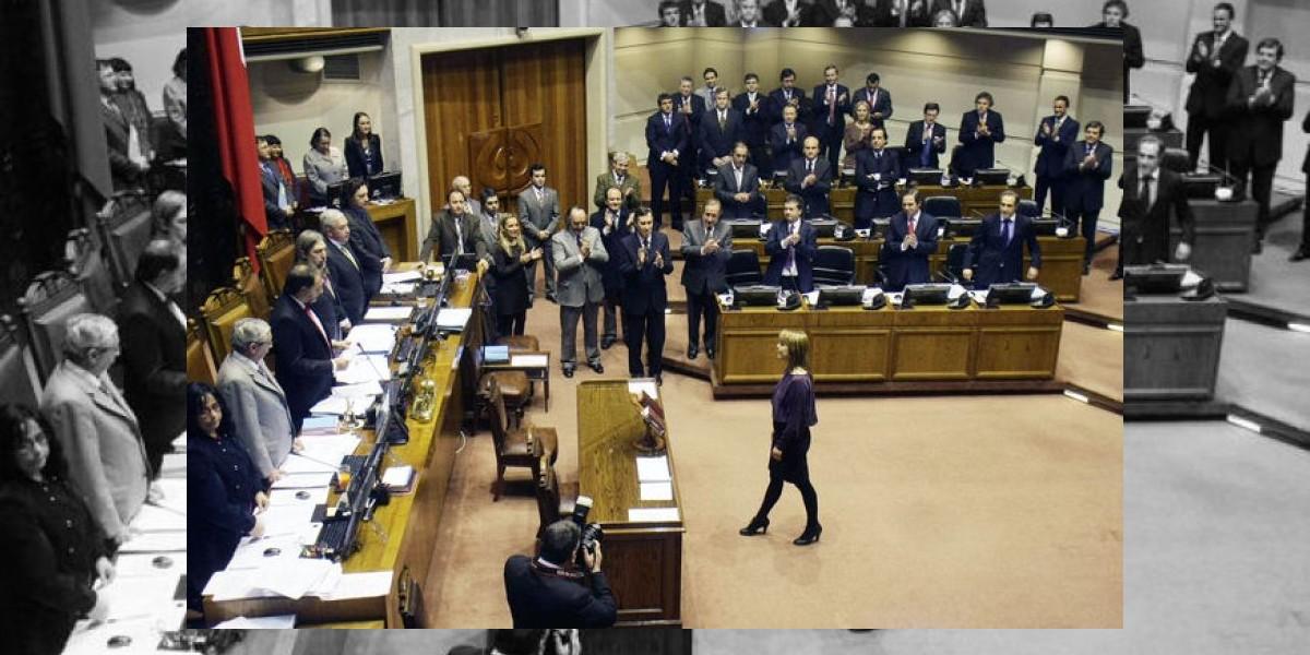 Ena Von Baer juró en la Cámara Alta como senadora