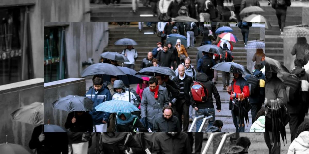 Frío y precipitaciones marcarán este martes en la Región Metropolitana