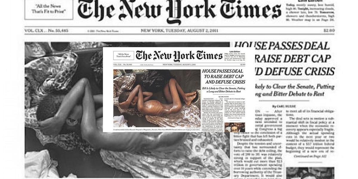 [FOTO] The New York Times sorprende con desgarradora portada