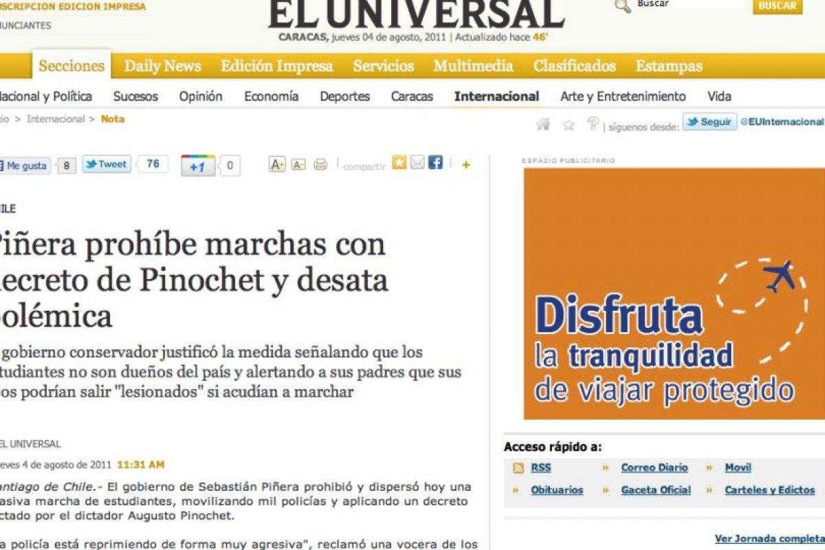 Foto:El Universal (Venezuela). Imagen Por: