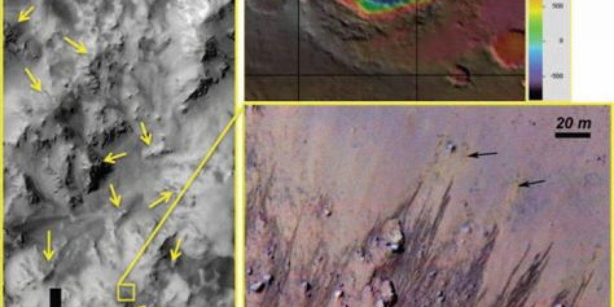 Nasa: posible presencia de agua salada en Marte