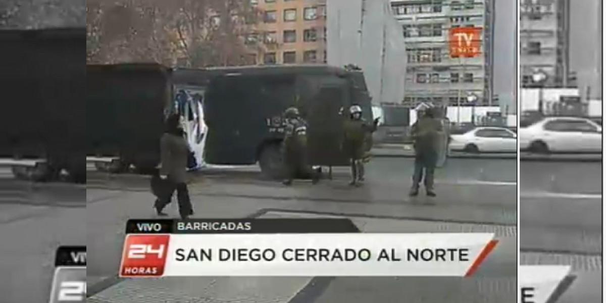 Jornada de movilizaciones comienza con disturbios, barricadas y cortes de tránsito