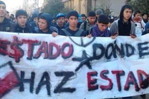 """Estudiantes se preguntan """"¿Estado, dónde has estado?"""". Foto:Twitpic @cuevaspato. Imagen Por:"""