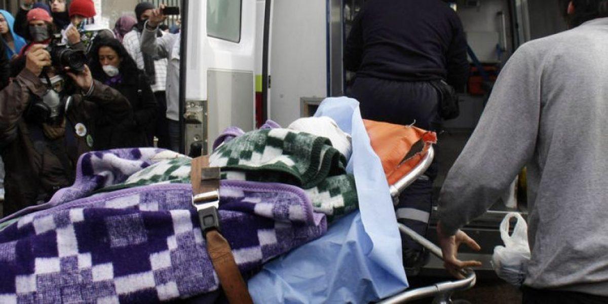 [FOTO] Estudiante es herido por proyectil en incidentes registrados en Valparaíso
