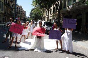 """Foto:""""Chilenxs en Barcelona por una Educación pública, gratuita y de calidad"""". Imagen Por:"""