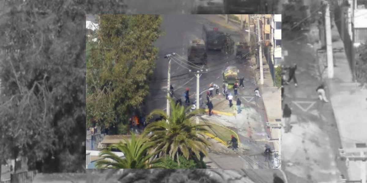 Universitarios y carabineros protagonizan nuevo enfrentamiento en Valparaíso