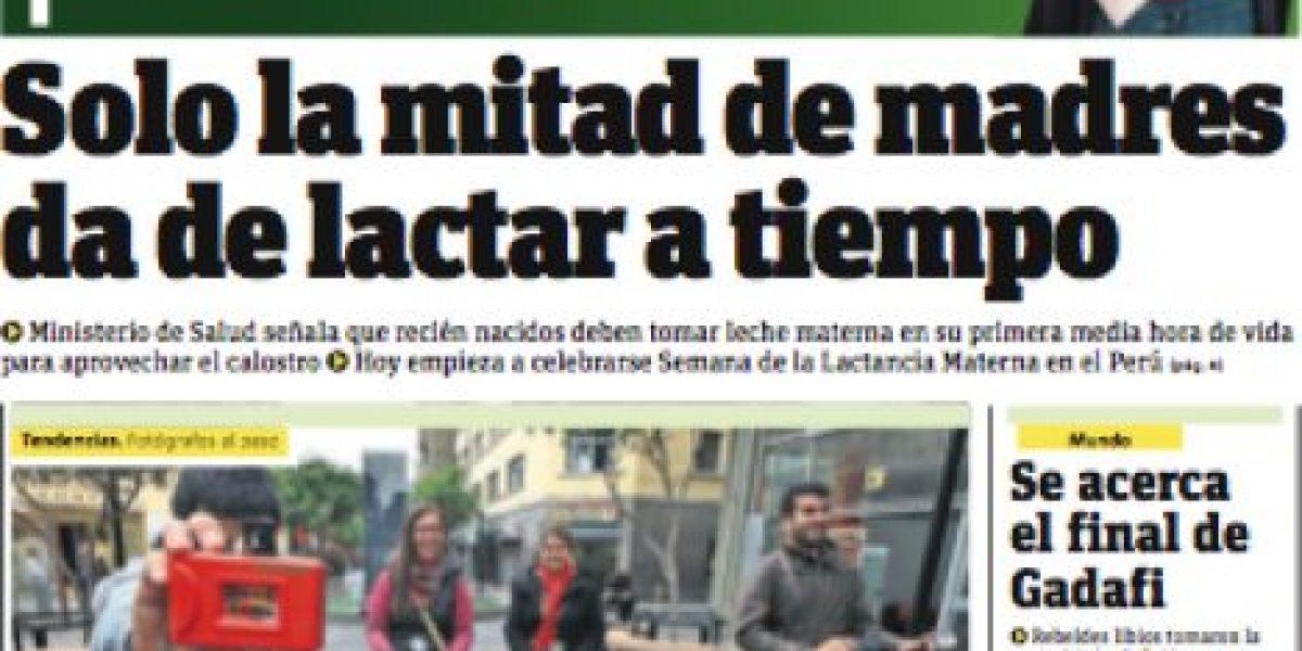 Camila Vallejo es portada de Publimetro Perú y los invita a