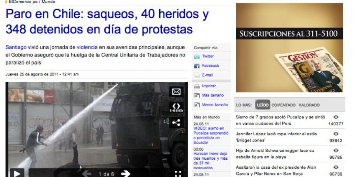 [FOTOS] Amplia cobertura de la prensa extranjera al paro de 48 horas