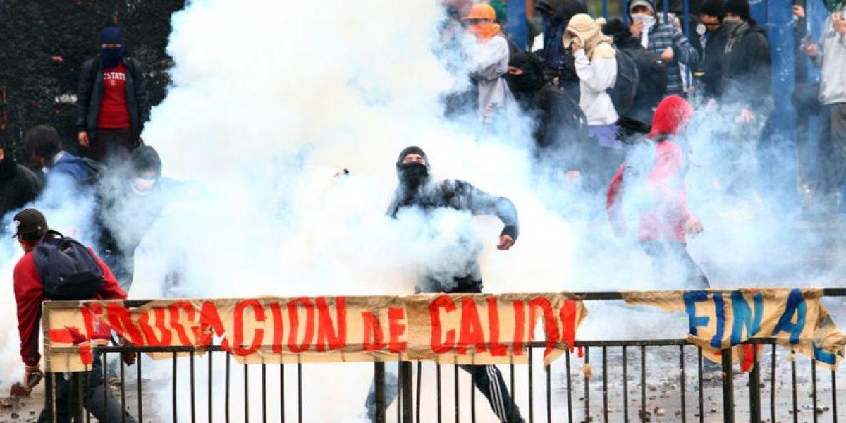 La pacífica marcha de la CUT terminó con incidentes
