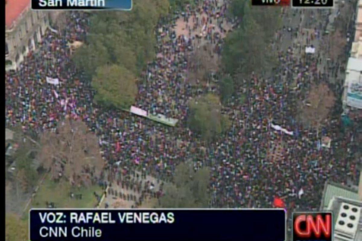 San Martín con la Alameda. Foto:Imagen de TV (CNN). Imagen Por:
