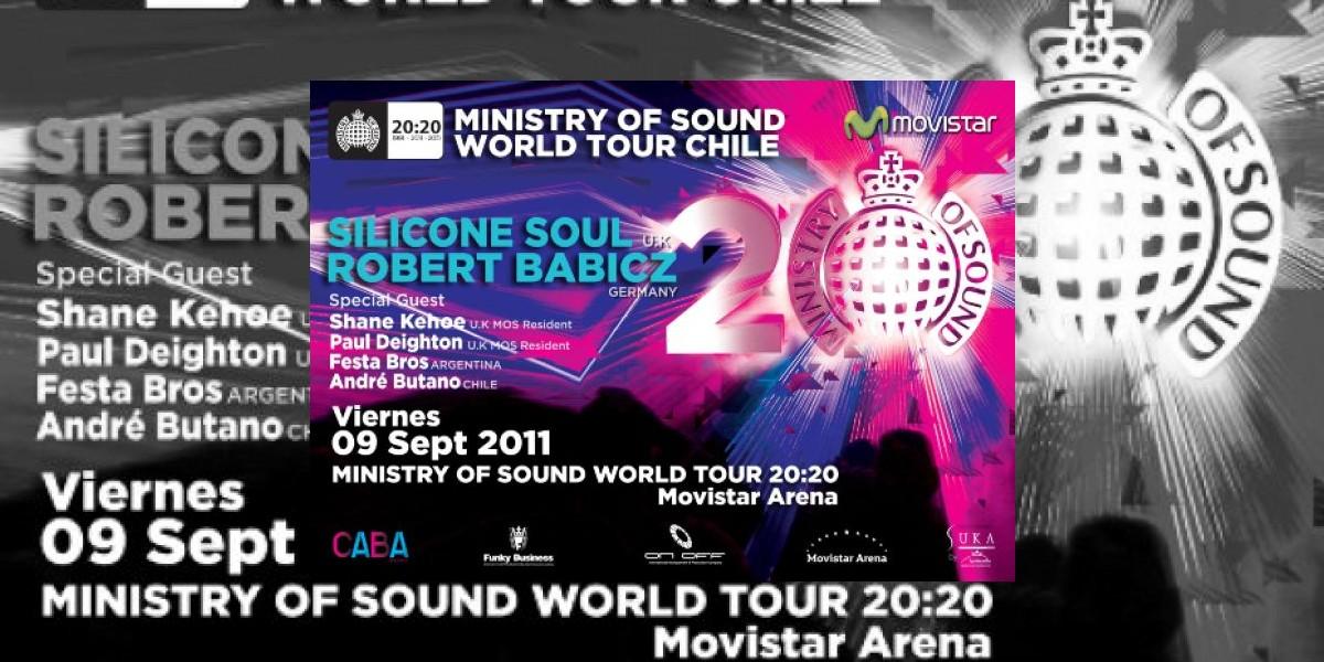 """Ganadores de entradas para """"Ministry of sound world tour 20:20"""""""