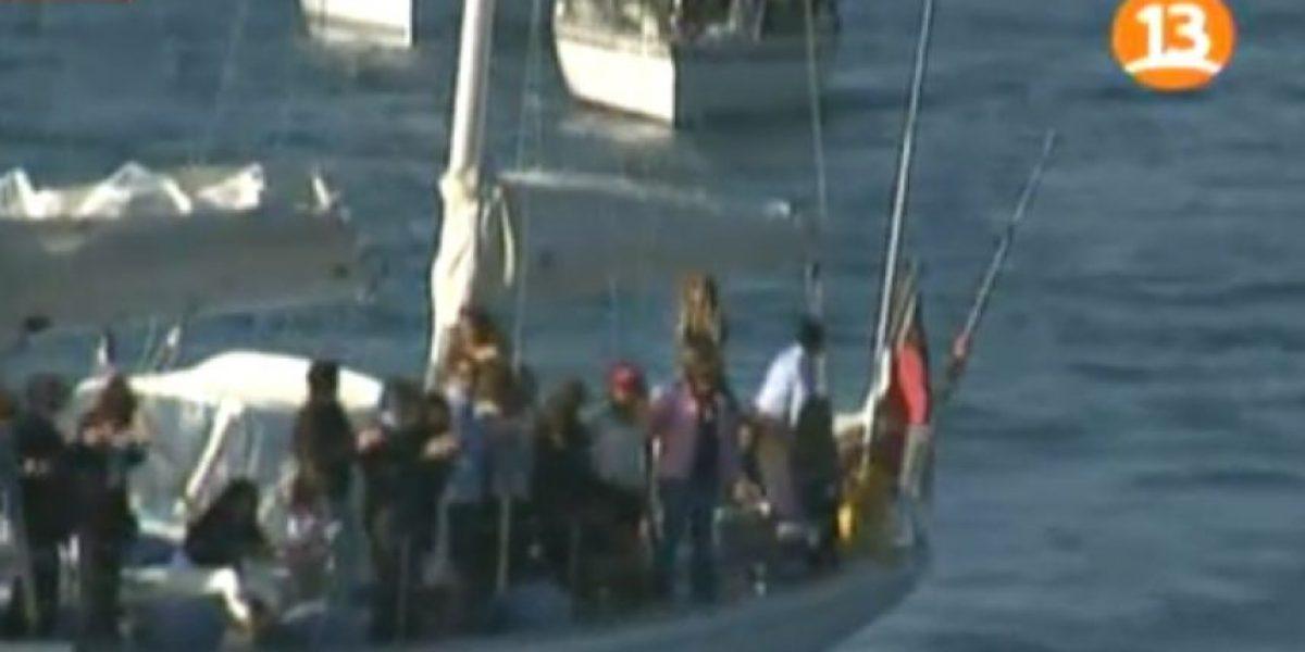 [FOTOS] El emotivo adiós en el mar a Felipe Cubillos