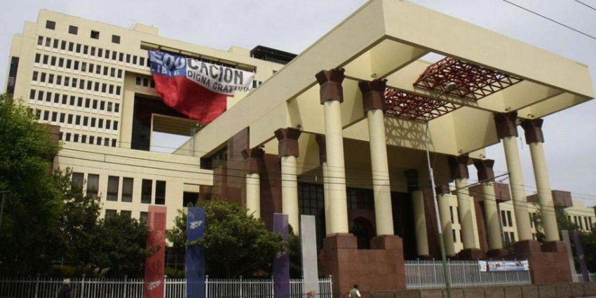 [FOTOS] Diputados despliegan bandera gigante por la Educación en Piso 14 del Congreso