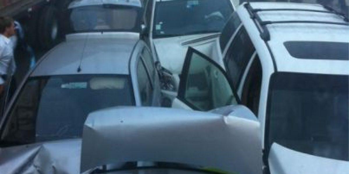 [FOTOS] Twitteros mandan las primeras imágenes del choque múltiple de Ruta 68