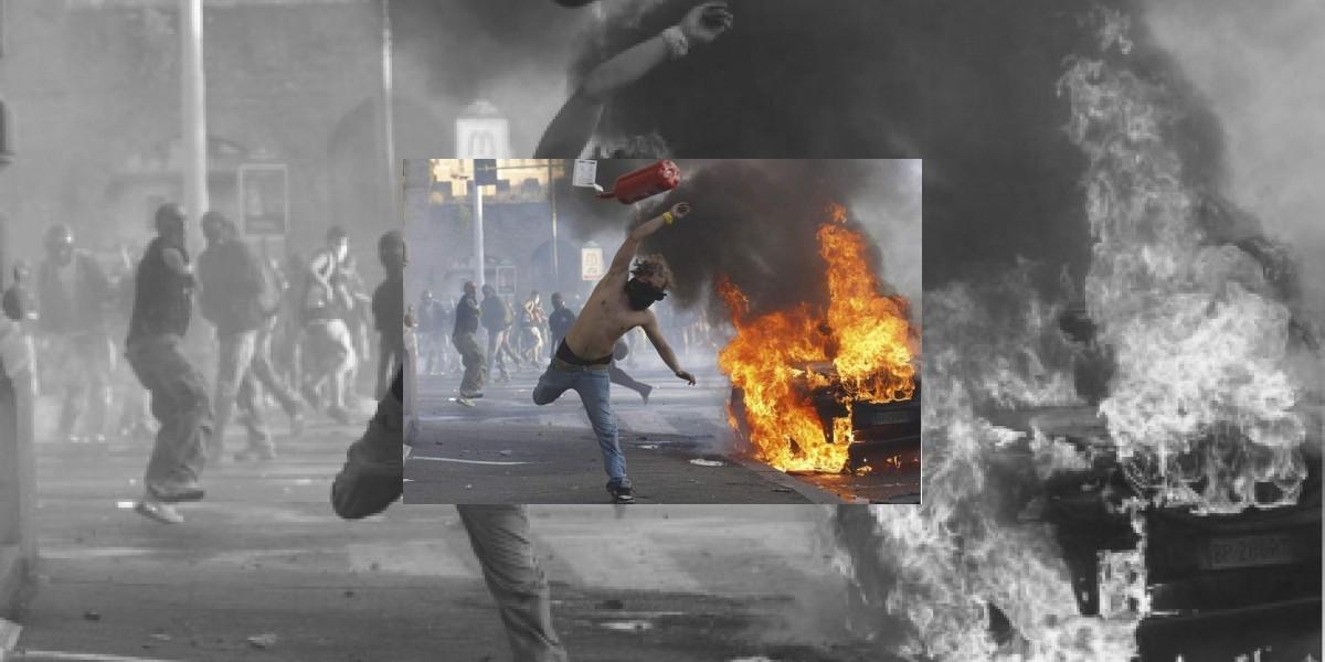 Así terminó el joven que protagonizó imagen ícono de los disturbios en Roma