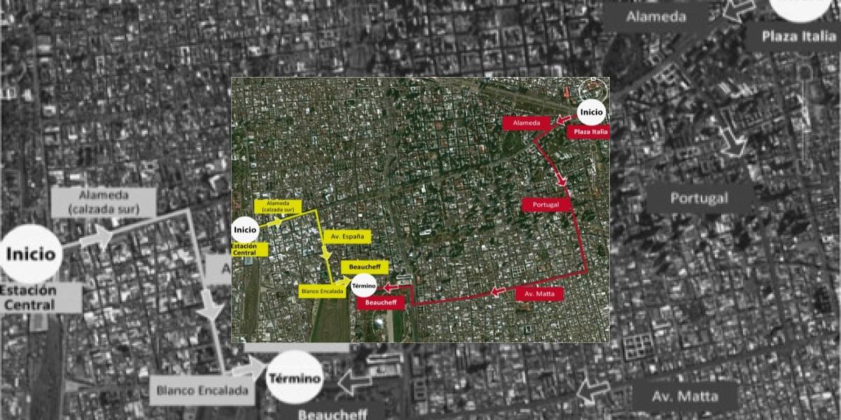 [MAPA] Desde Plaza Italia y Estación Central partirán marchas de este miércoles