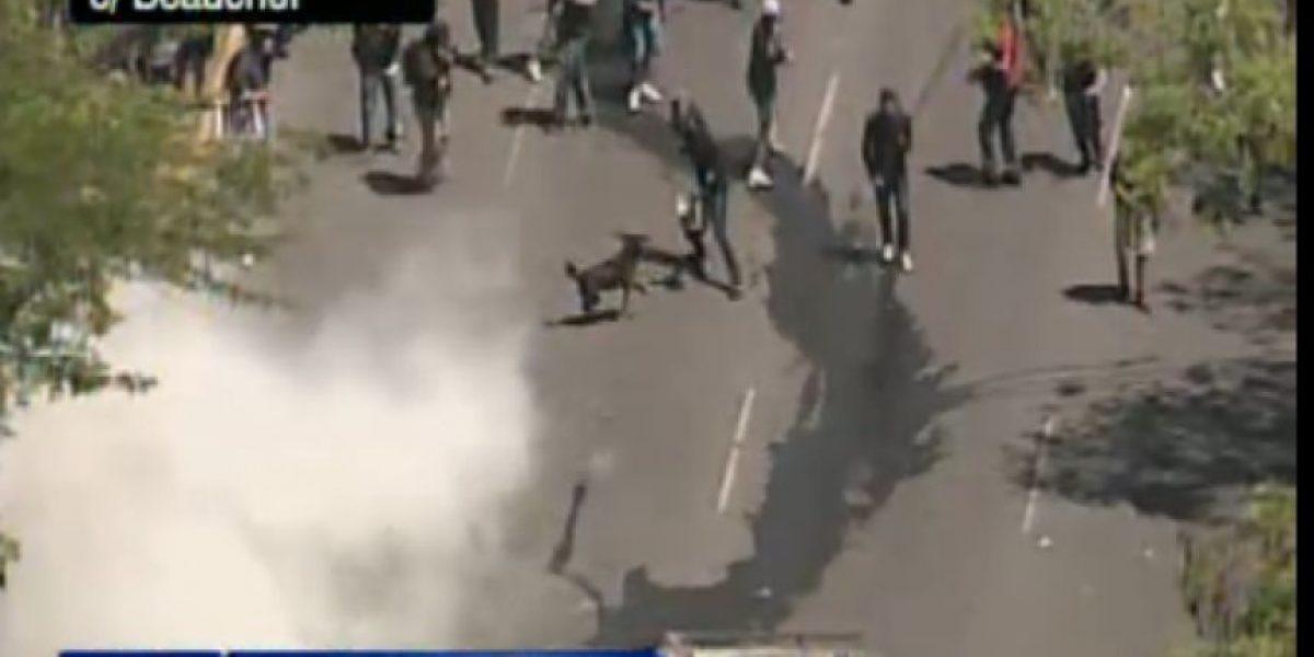 Paro nacional: serios incidentes en Blanco Encalada y Av. España