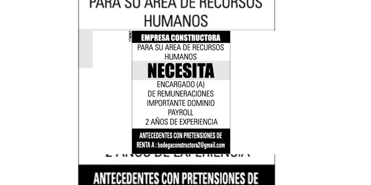 Avisos de empleo: Encargado (a) de remuneraciones
