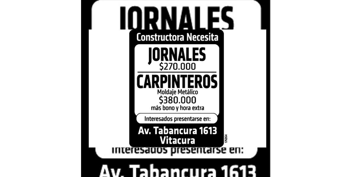 Avisos de empleo: Jornales y carpinteros