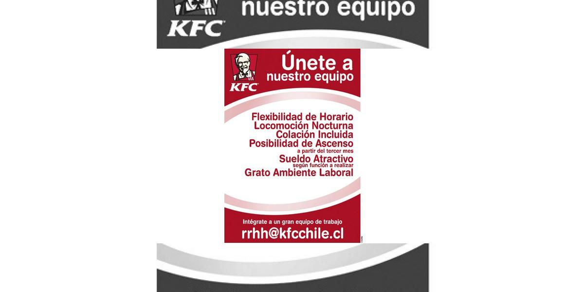 Avisos de empleo: Únete al equipo de KFC