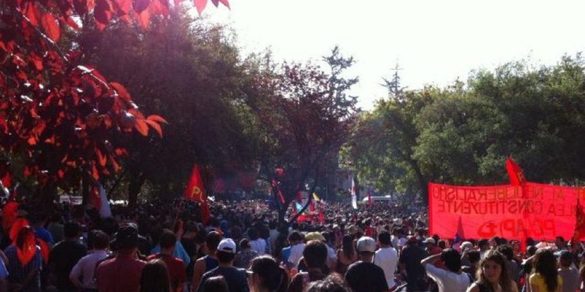 Marcha por la Educación finaliza sin incidentes tras acto cultural