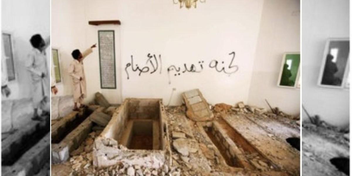Profanan tumbas de familiares de Gaddafi