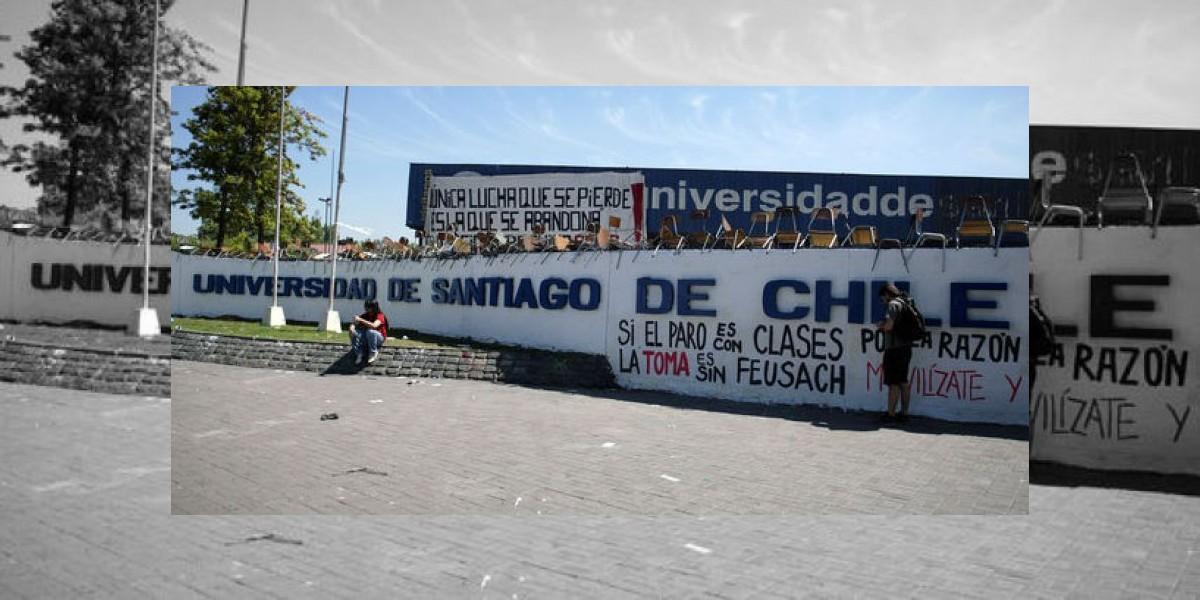 Estudiantes de la Usach se tomaron de nuevo el recinto