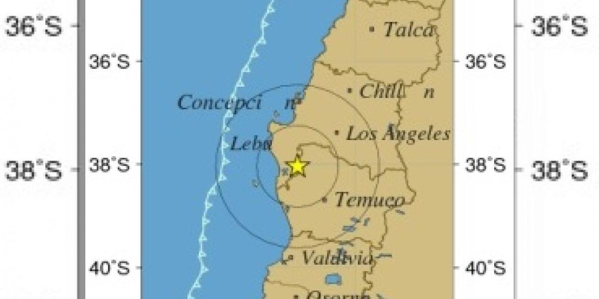 Sismo de 5,1 Richter despertó a los habitantes del sur