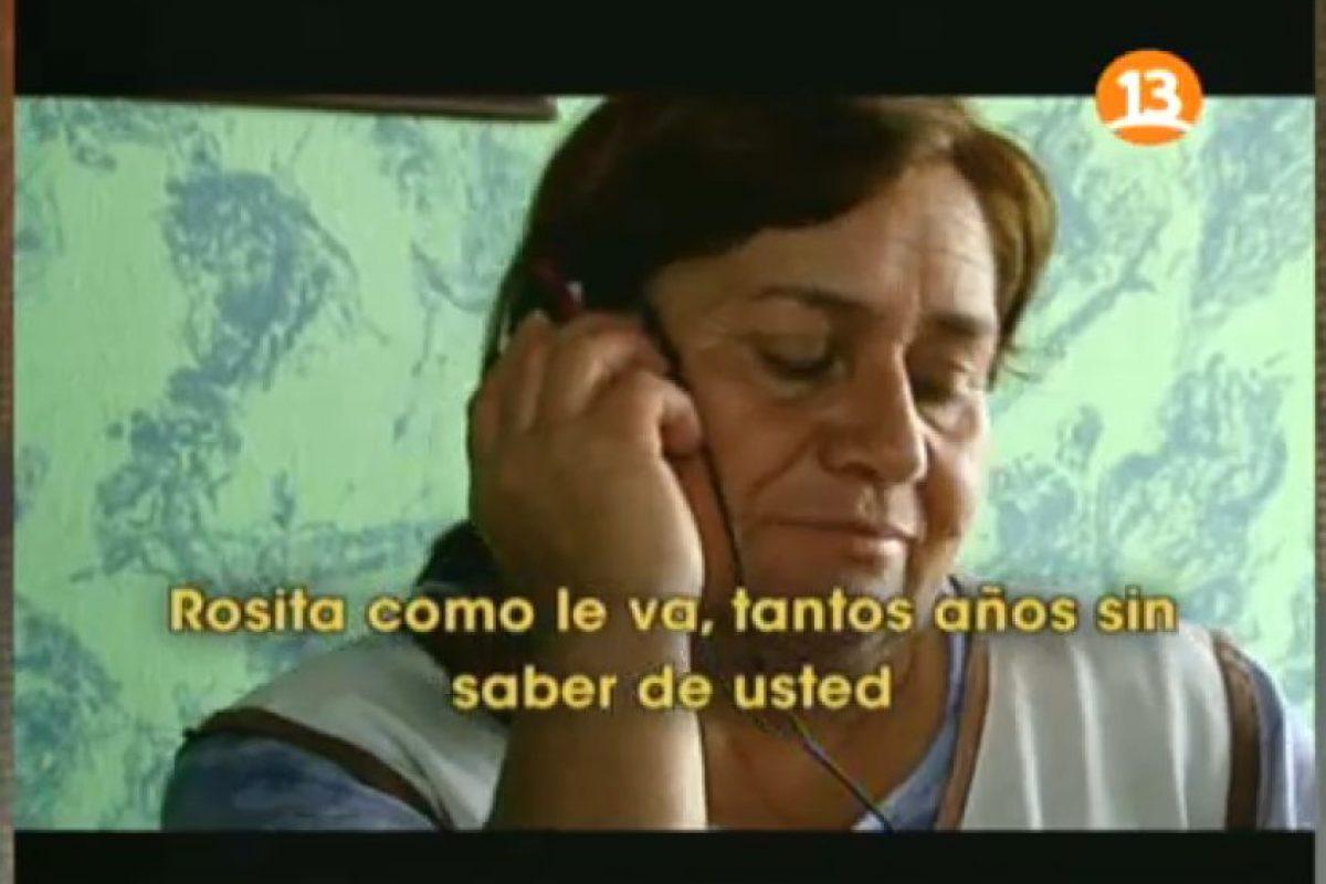 Rosa Díaz,directora del Hogar Santa Teresita de Los Andes, el que debería haber recibido los aportes de la fraudulenta fundación de Aguilera. Foto:Reproducción Canal 13. Imagen Por: