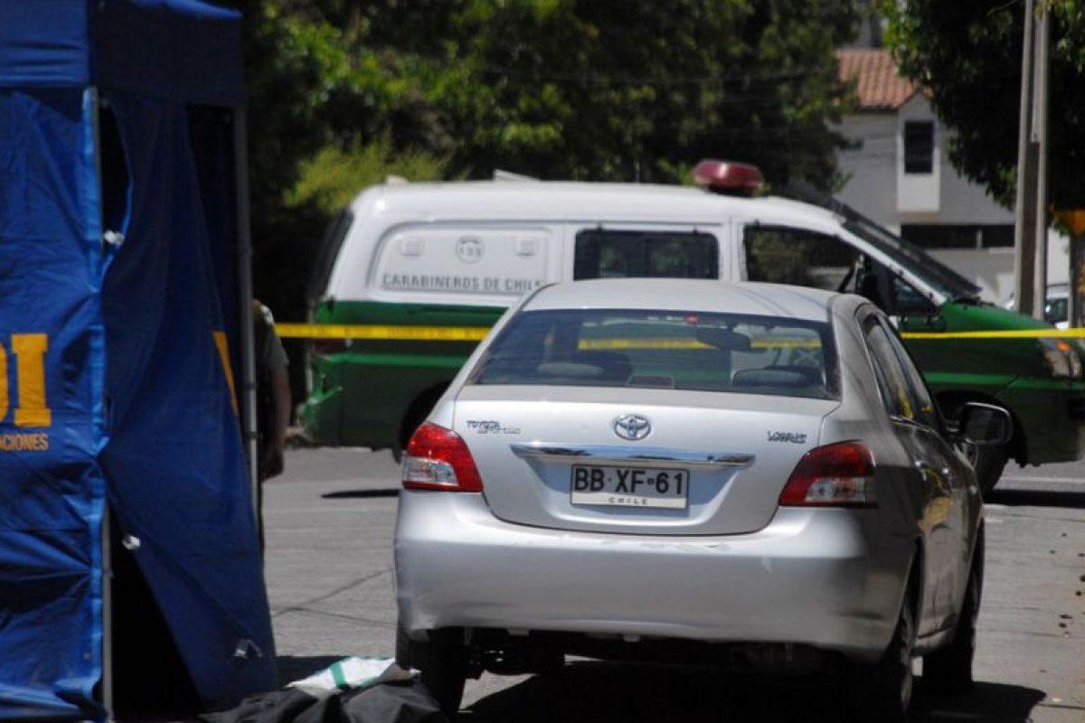 Auto en que fue encontrado el cuerpo de la mujer. Foto:Upi. Imagen Por: