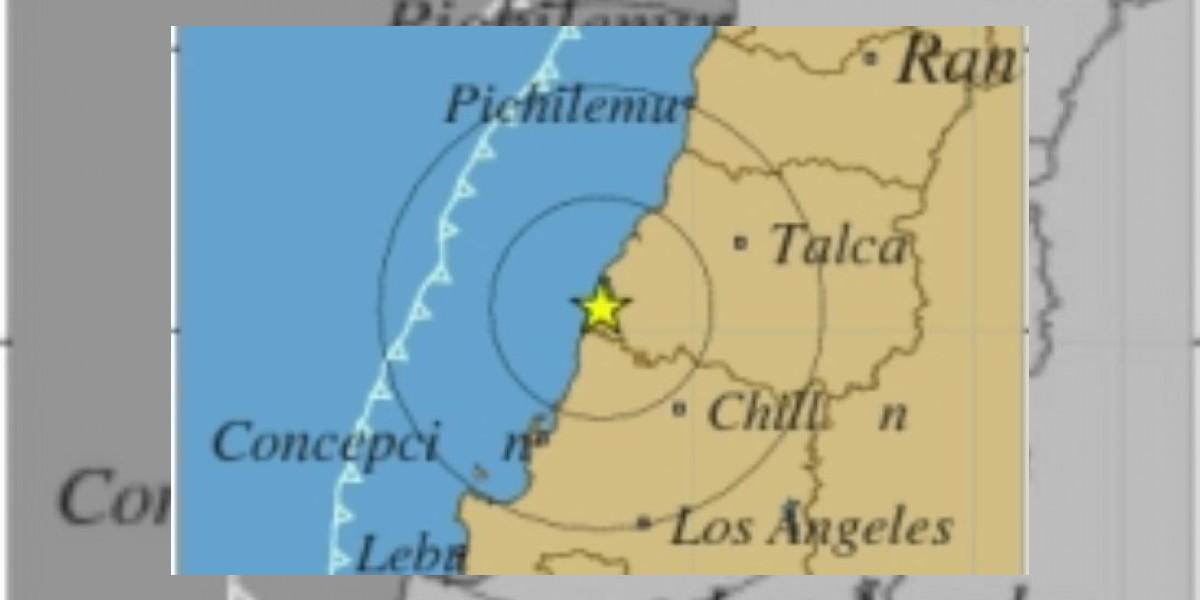 Sismo de 4,9 Richter se registró en la Región del Biobío