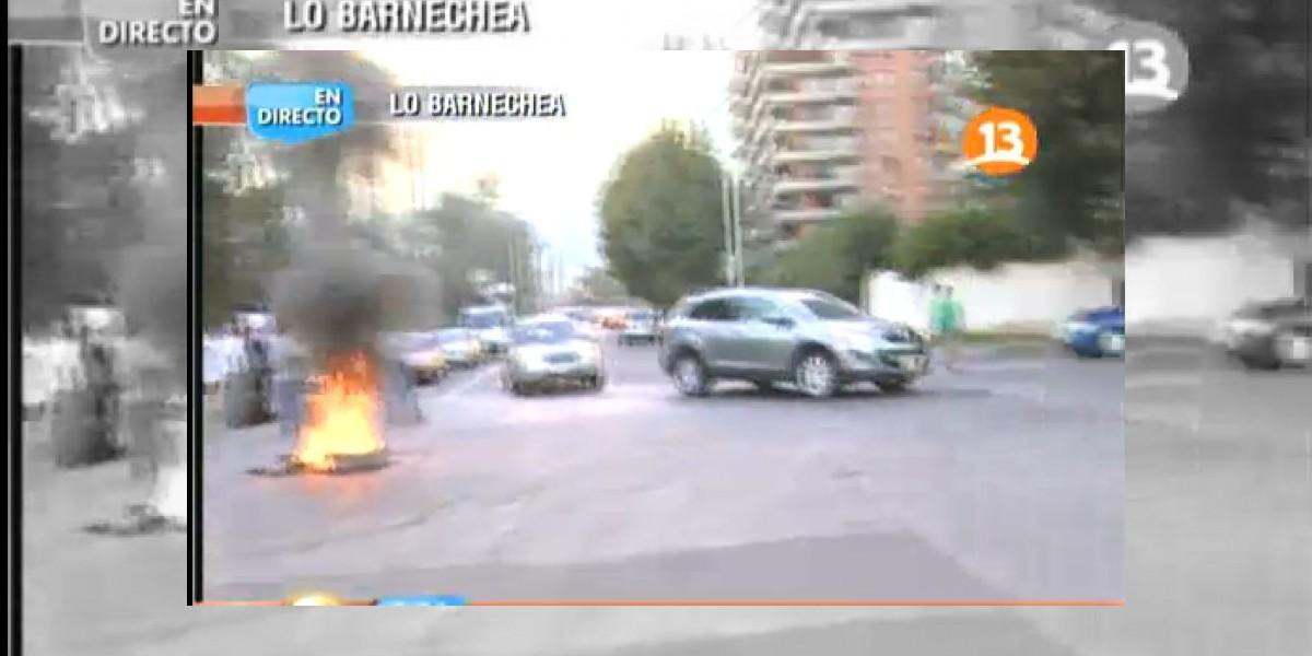 Barricadas en La Dehesa: Pobladores de Juan Pablo II acusan falta de seguridad