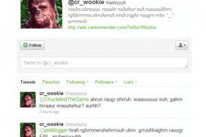 6.- @cr_wookie: Chewbacca también está en la red social Foto:Reproducción. Imagen Por: