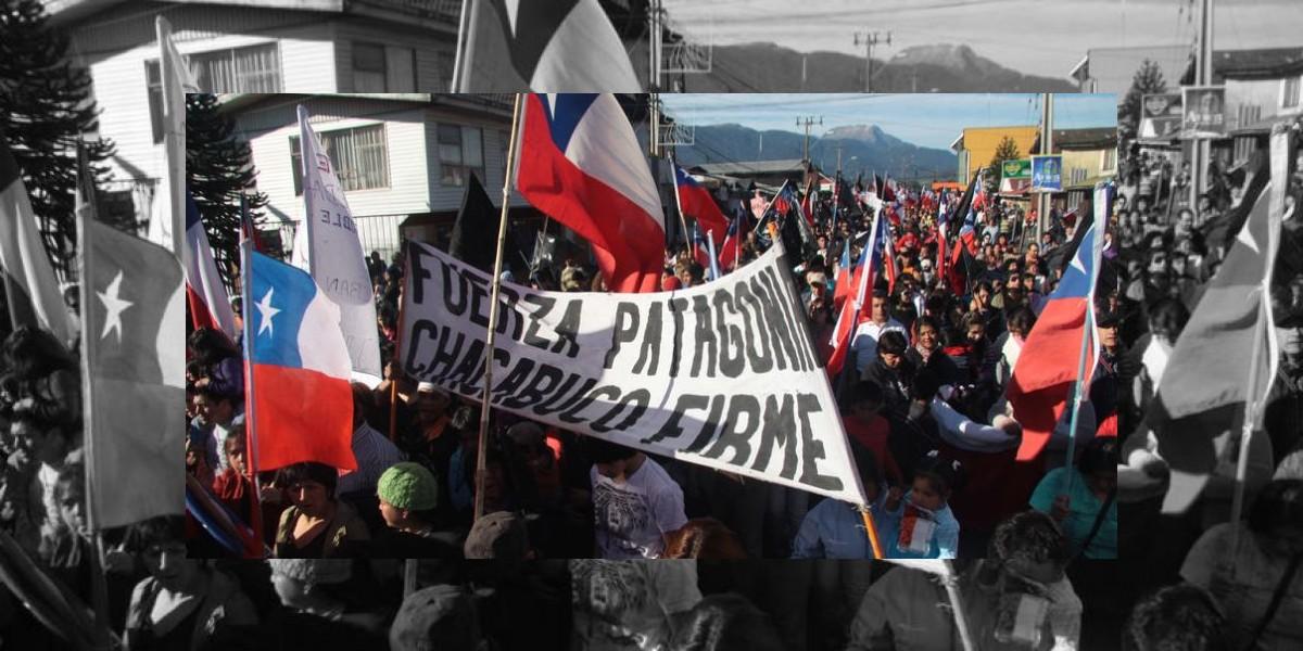 Masiva marcha en Aysén contra la Ley de Seguridad del Estado