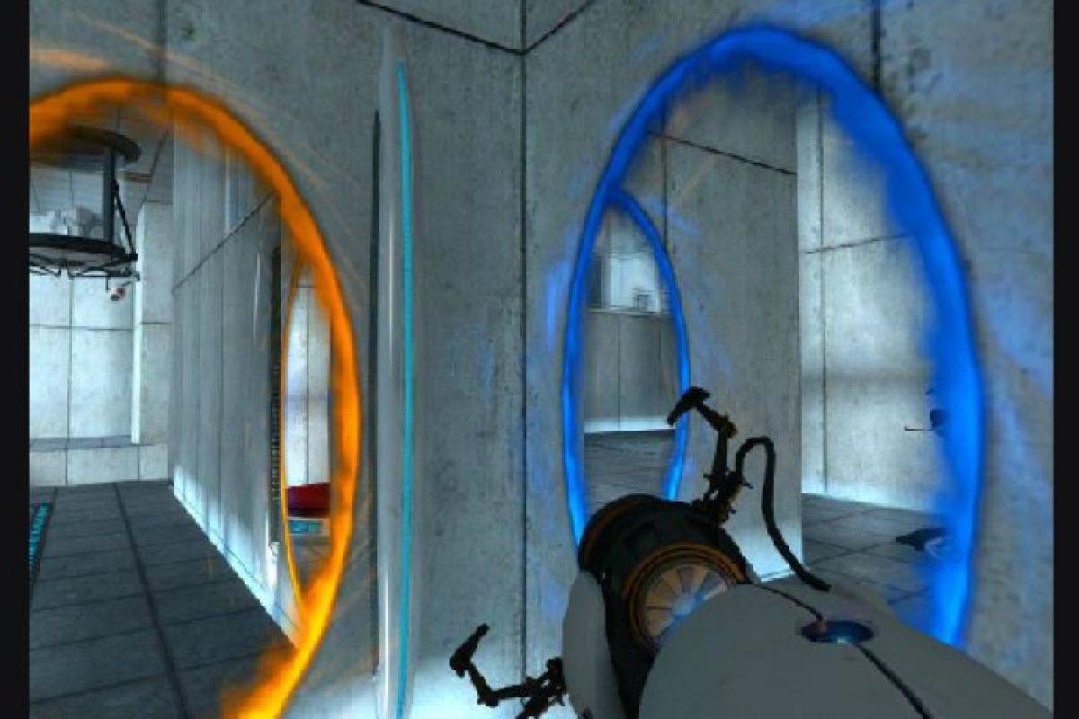"""3. Portal Este videojuego del 2007 es """"hermoso, desconcertante y una experiencia alucinante"""", según Melissinos. El jugador debe conducir al protagonista, Chell, fuera de un laboratorio con la ayuda de un dispositivo que puede transportar a un jugador entre dos portales móviles.. Imagen Por:"""