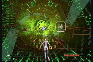 """6. Rez Este videojuego lanzado en Japón el 2001 está inspirado en el trabajo del pintor rusoWassily Kandinsky. El diseño te muestra cómo sería estar dentro de la corriente de bits de una computadora, lo cual hace tan bien, que parece """"una pieza de arte interactivo"""", según Melissinos.. Imagen Por:"""