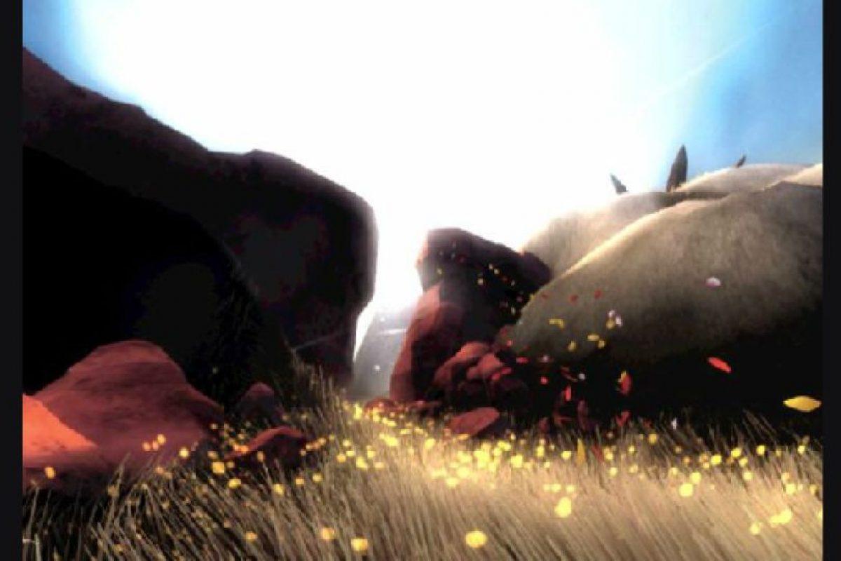 """8. Flower Melissinos lo llama """"un poema en movimiento"""". El videojuego para Play Station diseñado por Jenova Chen y Nicholas Clark en el 2009 consiste en mover el pétalo de una flor, el cual puede provocar que otras flores lo sigan o que convierta terrenos secos en praderas llenas de color.. Imagen Por:"""
