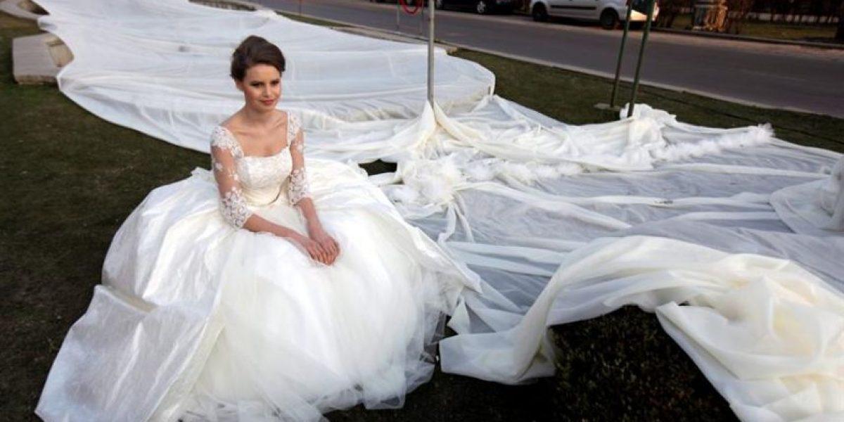 [FOTOS] Esta novia rompe espectacular record Guinness